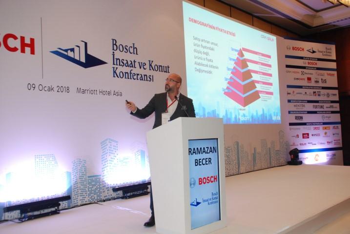 6. Bosch İnşaat ve Konut Konferansıda Ramazan Becer detayları anlattı