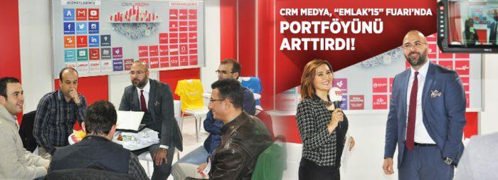 """Crm Medya, """"EMLAK'15"""" Fuarı'nda Portföyünü Arttırdı!"""
