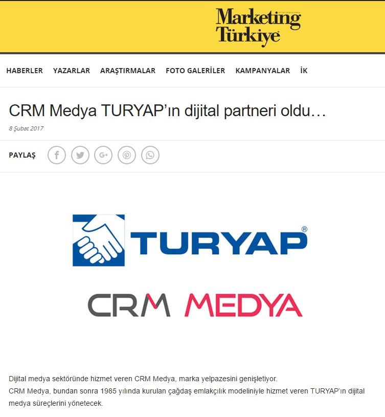 CRM Medya TURYAP'ın dijital partneri oldu!