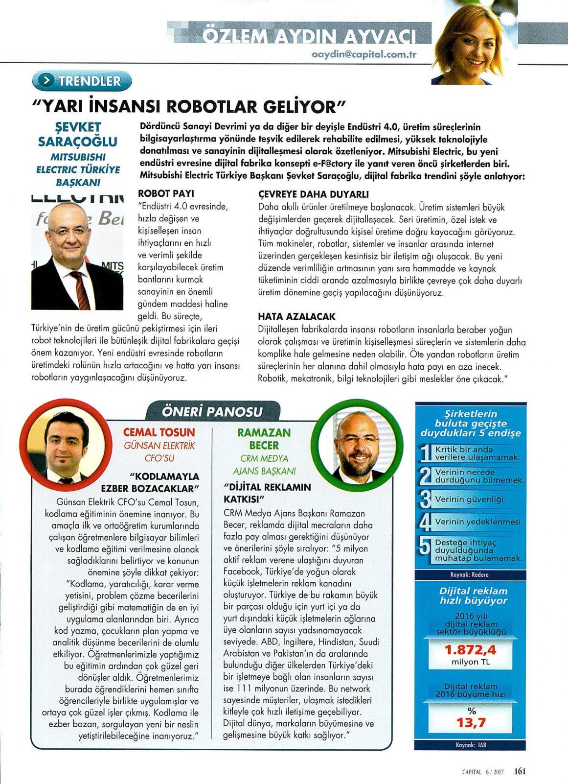 """""""YARI İNSANSI ROBOTLAR GELİYOR""""capital"""