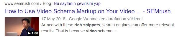 rich snippets video örneği