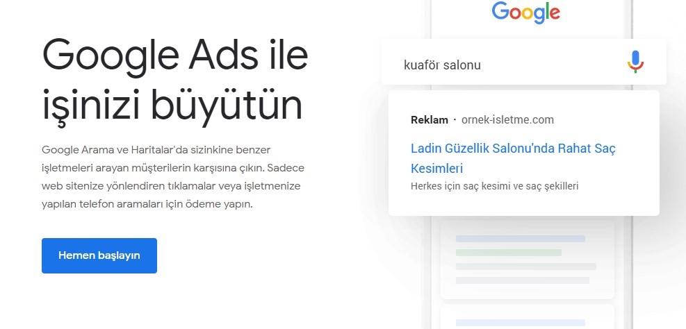 google ads hesabı oluşturma